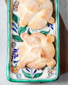 """for halloween! Pan de Muerto from """"Mexico: The Cookbook"""" by Margarita Carrillo Arronte - http://www.sweetpaulmag.com/food/pan-de-muerto-from-mexico-the-cookbook-by-margarita-carrillo-arronte #sweetpaul"""