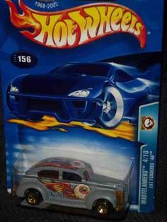 Wastelanders no.4 Fat Fendered '40 5-spoke Malaysia no.2003-156 Collectible Collector Car Mattel Hot Wheels >>> Sensational bargains just a click away : FREE Toys and Games