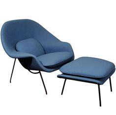 Blue Womb Chair by Eero Saarinen