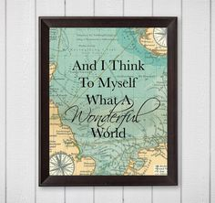 Wonderful Weddings: And I Think To Myself What A Wonderful World Map 8...