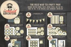The Blue Mad Tea Party Pack by On A Whimsical Adventure on @creativemarket