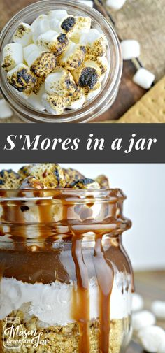 Are you craving the ooey gooey goodness of s'mores? You don't have to wait till summer or when you go camping to make s'mores, you can indulge whenever you want thanks to this indoor s'more recipe. Here you'll learn how to make s'mores in a jar. Just grab a Mason jar and layer in a graham cracker mixture, marshmallow fluff and a melted chocolate mixture then top with toasted mini marshmallows.