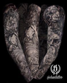 Full sleeve, pantheon of gods.