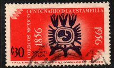 MEXICO 893, 30c Centenary of 1st postage stamps. Used (1085) - bidStart (item 25634479 in Stamps... Mexico)