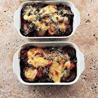 Tessa's baked aubergine with tomato, mozzarella & Parmesan by The Good Food
