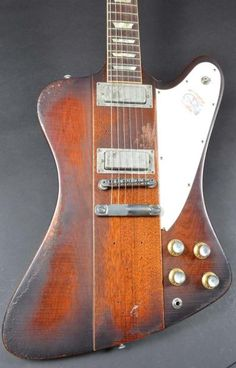 Gibson Johnny Winter Firebird, run of 50 aged replicas, owned by Jon Schaffer of Iced Earth Guitar Amp, Cool Guitar, Acoustic Guitar, Vintage Electric Guitars, Vintage Guitars, Harmonica Lessons, Gibson Firebird, Gibson Flying V, Guitar Inlay