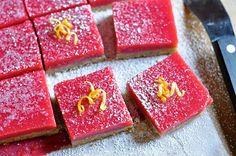 Recipe: Cranberry Curd Bars with Walnut Shortbread Crust