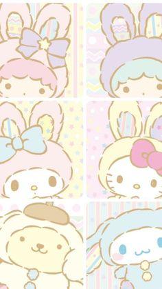 Little Twin Stars, My Melody, Hello Kitty, Pompompurin, Cinnamoroll