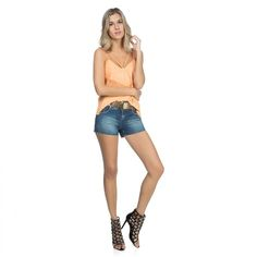 Vem ver gente!!   Short Jeans Estonado Cinto  COMPRE AGORA!  http://imaginariodamulher.com.br/produto/short-jeans-estonado-cinto/ #comprinhas#modafeminina#modafashion#tendencia#modaonline#moda#instamoda#lookfashion#blogdemoda#imaginariodamulher