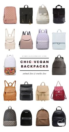 Looking for a bag that'll fit all your essentials—whether it's for school, work, or play? Here are 18 chic vegan backpacks!