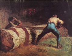 The Wood Sawyers - Jean-Francois Millet - saw this painting at the Victoria & Albert Museum in London