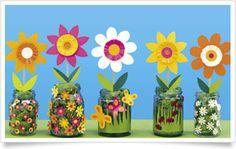 Tips and templates: Elementary school art 2019 - Basteln - Flower Crafts Kids, Toddler Crafts, Easter Crafts, Craft Flowers, Summer Crafts, Diy And Crafts, Crafts For Kids, Arts And Crafts, Fun Crafts