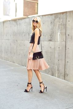 #pleat #skirt #pink
