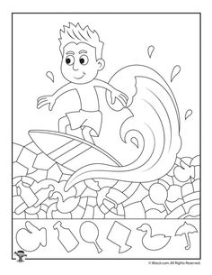 Up Summer Hidden Pictures Printable -Surfs Up Summer Hidden Pictures Printable - Fishing Pier Summer Hidden Picture Summer Picnic Find the Item Activity Page Easy Hidden Pictures with Animals Printable Activity Pages Surfs Up, Visual Motor Activities, Color Activities, Printable Activities For Kids, Preschool Activities, Hidden Pictures Printables, Printable Pictures, Teaching Shapes, School Coloring Pages
