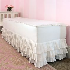 I want the bottom of my sofa slip cover to look like this.