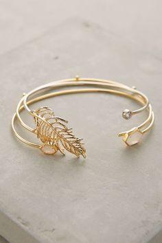 gilded leaf bangles / anthropologie