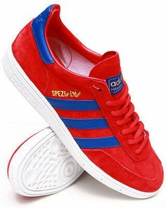 c63812f7ca2c PURCHASED THESE BAD BOYS - SPEZIALS IN POPPY RED ROYAL BLUE WHITE SOLES -