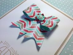 ▶ Make a paper bow on the Envelope Punch Board featuring Stampin' Up! products - YouTube