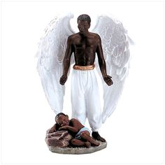 A guardian angel overlooking a child. I imagine that my Dad is up in heaven doing the same to my children and nieces.