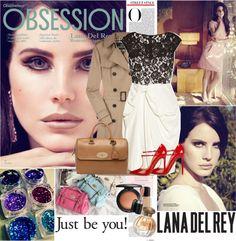 """Celebrity Style: Lana Del Rey (20/01/2013)"" by lulys2nano ❤ liked on Polyvore"