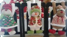 Forro sillas Christmas 2016, Christmas Snowman, Christmas Crafts, Christmas Decorations, Christmas Ornaments, Seasonal Decor, Holiday Decor, Chair Covers, Projects