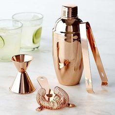 For Jake - Copper Bar Set from Williams Sonoma