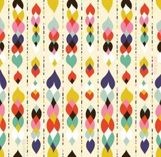 "Prints: Helen Dardik. I definitely tend to lean towards quirky block coloured, simple shapes in prints, generally quite abstract. I love bold, bright and playful patterns. She strives to create designs that are ""fun, fresh and beautiful"""