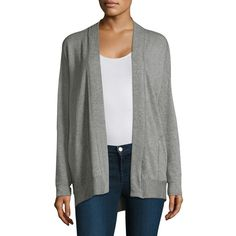 Stateside Heathered Cardigan (1.134.250 IDR) ❤ liked on Polyvore featuring tops, cardigans, open front tops, cardigan top, stateside tops, open front cardigan and long sleeve cardigan