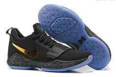 a3f82427fe7a 2018 Fashion New Nike Zoom PG 1 Black Iridescent Gold Cheap Jordan Shoes