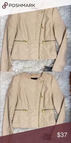 30e4e282748c4 Steve Madden Leather Jacket BRAND NEW WITH TAGS!! blush Pink Leather Jacket