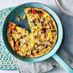 Frittatas are a great canvases for leftover ingredients, especially grilled summer vegetables. We add them to the egg mixture just before...