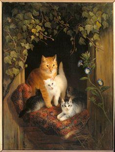 Poes met jongen, 1844 Ronner-knip