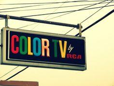 Color TV 20x30 photographic print by ASenseofPlacePhotogr on Etsy