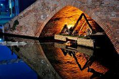 Presepi sotto i ponti di Comacchio, Provincia di Ferrara Italy