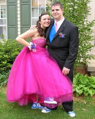 """Taking """"comfortable prom shoes"""" to a new level."""