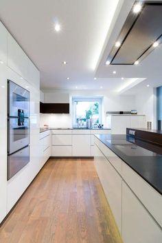 Wohnküche nach maß in borken moderne küchen von klocke möbelwerkstätte gmbh modern Modern Kitchen Cabinets, Painting Kitchen Cabinets, Kitchen Cabinet Design, Kitchen Paint, Modern Kitchen Design, Home Decor Kitchen, Kitchen Flooring, Kitchen Interior, Home Interior Design