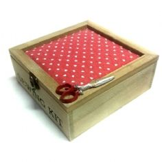 Κουτί ραπτικής - Μαξιλαράκι καρδούλες