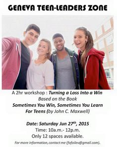 Teens Workshop: Turning a Loss into a Win, 27 June 2015