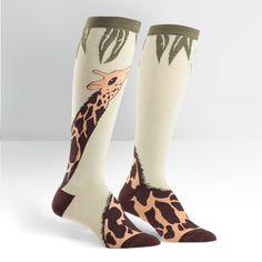 Reach for the highest knee tops with Giraffe Knee High Socks!