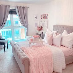 Teen Bedroom Designs, Bedroom Decor For Teen Girls, Cute Bedroom Ideas, Room Design Bedroom, Room Ideas Bedroom, Home Decor Bedroom, Bedroom Furniture, Teen Bedrooms, Bedroom Styles