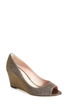 Free shipping and returns on kate spade new york 'radiant' wedge pump (Women) at Nordstrom.com. A dazzling covered wedge boosts a lustrous pump styled with a low-cut topline and flirty open toe. A perfect choice for parties or your next special occasion.