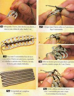 DIY : Sac languettes au crochet                                                                                                                                                                                 Plus