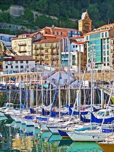 San Sebastian, Spain Old town and marina