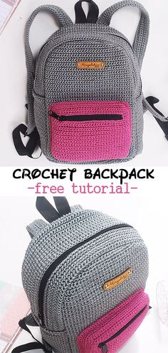 Crochet Backpack patterns afghan patterns crochet patterns afghan scarf blanket A great tutorial to learn how to crochet this school backpack. A great tutorial to learn how to crochet this school backpack. Crochet Diy, Learn To Crochet, Crochet Crafts, Crochet Projects, Tutorial Crochet, Sewing Projects, Crochet Bag Tutorials, Crochet For Kids, Crochet Ideas