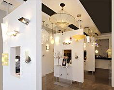 Showroom Image at Urban Lighting Inc. Lighting Inc, Lighting Showroom, Lighting Store, Lighting Design, Boutique Interior Design, Showroom Design, Showroom Ideas, Office Layout Plan, Electrical Stores