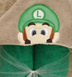 Plumber Brother L Hooded Towels, Craft Online, Selling Art, Handmade Crafts, Luigi, Big Kids, Hoods, My Etsy Shop, Trending Outfits