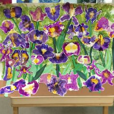 Kindergarten Van Gogh irises