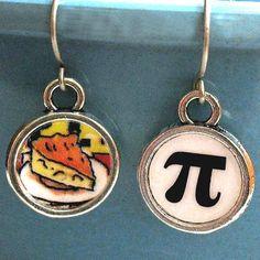 Pi Day Earrings Math Geek Pie Jewelry by ALikelyStory on Etsy, $14.95
