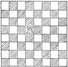 """Trebuie să faceți acest lucru în cât mai puține mutări. Un pătrat este considerat ca fiind """"vizitat"""", fie că treceți doar prin el, fie că vă opriți pe el. Rook, Poker, Mai, Games, Squares, Number, Board, Bobs, Gaming"""