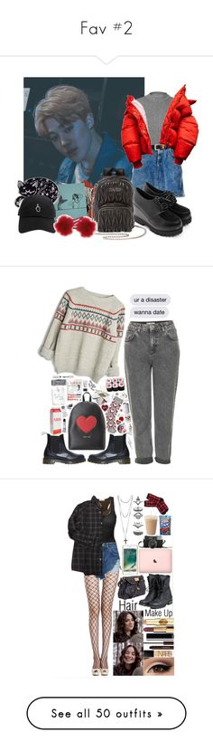 """Fav #2"" by minjoothebear ❤ liked on Polyvore featuring Miss Selfridge, Miu Miu, Topshop, Dr. Martens, Love Moschino, Oasis, Patricia Breen, Muji, Hot Topic and Edge Only"